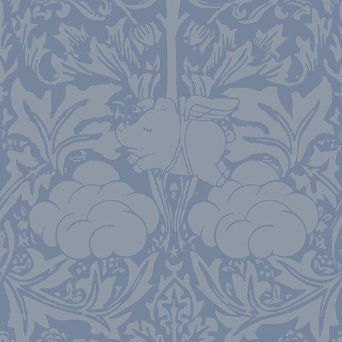 Morris Dream - Cream and Blue Wallpaper