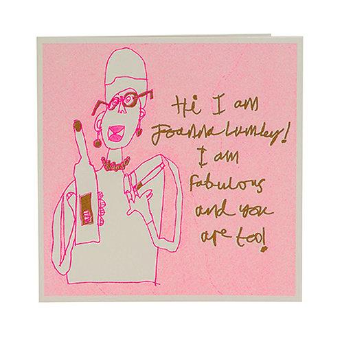 Joanna Lumley Card