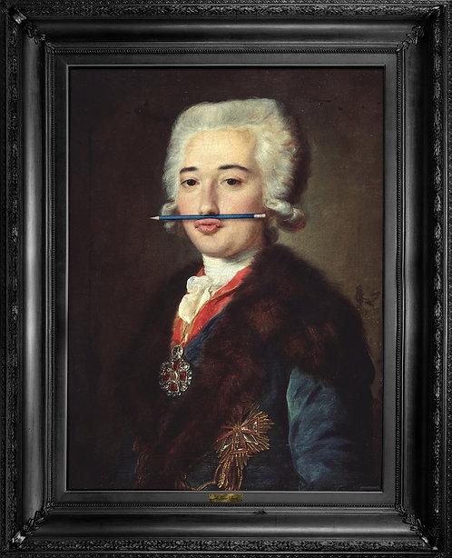 'The Blue Pencil' Canvas