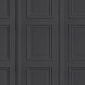 Anthracite Panelling Wallpaper