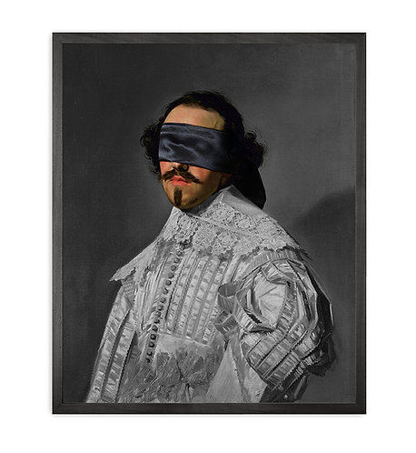 Blindfold -5 Framed Printed Canvas