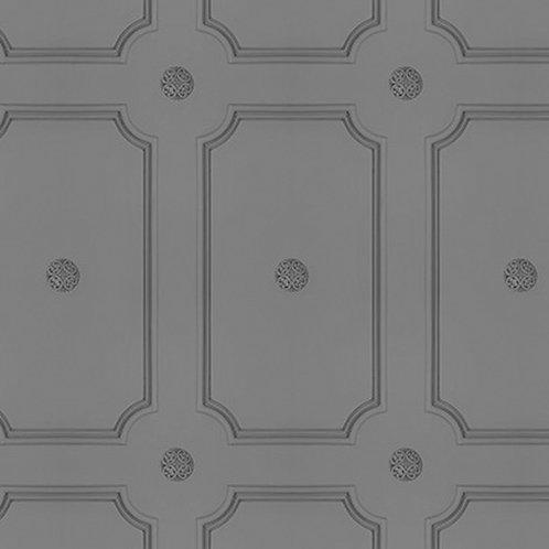 Medium Grey Georgian Dot Panelling Wallpaper