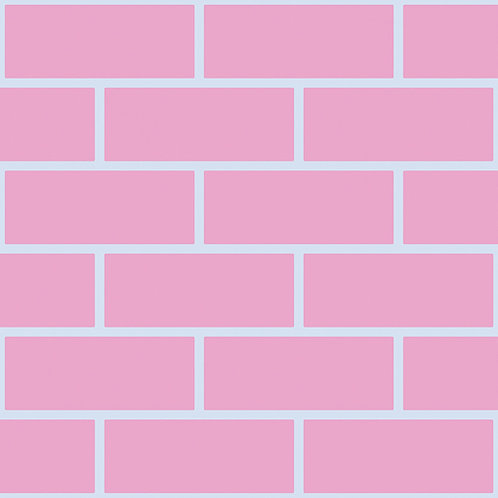 Pink & Light blue bricks Outline Wallpaper