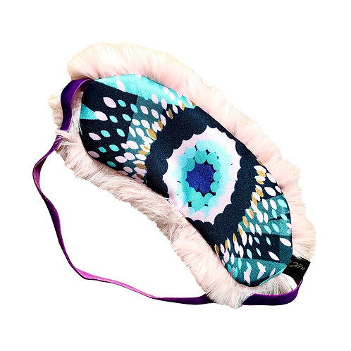 Eye Mask - Faux Fur Pink