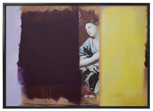 Purple with woman - Limited edition print