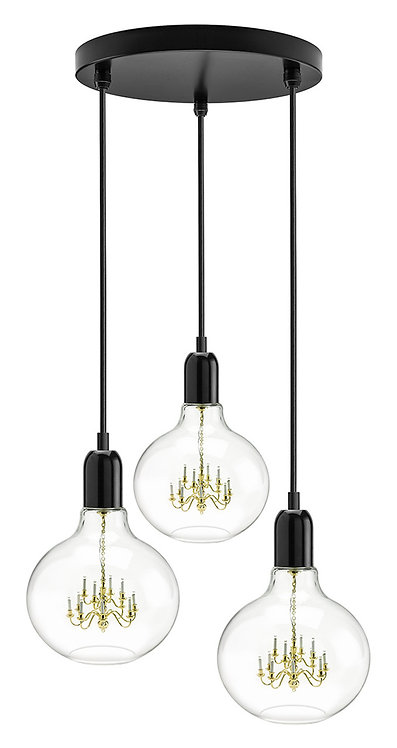 King Edison Black Trio Pendant Lamp