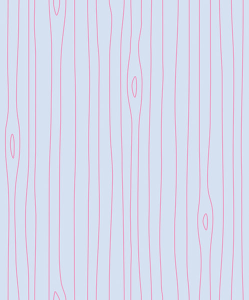 Light Blue & Pink Woodgrain Outline Wallpaper