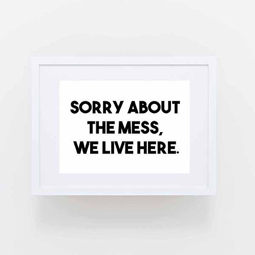 Sorry about the mess, we live here