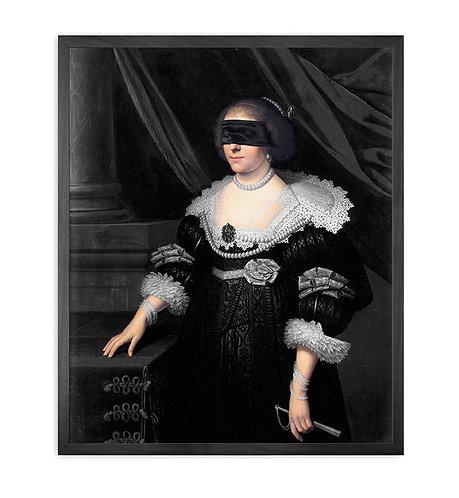 Blindfold -7 Framed Printed Canvas