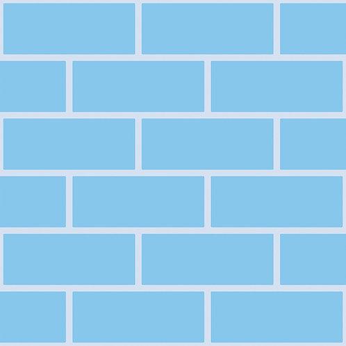 Tonal blue bricks Outline Wallpaper