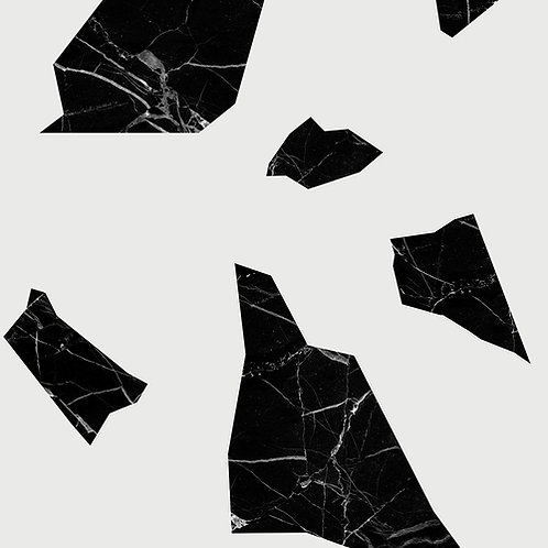 Marble fragment Wallpaper - Black & White