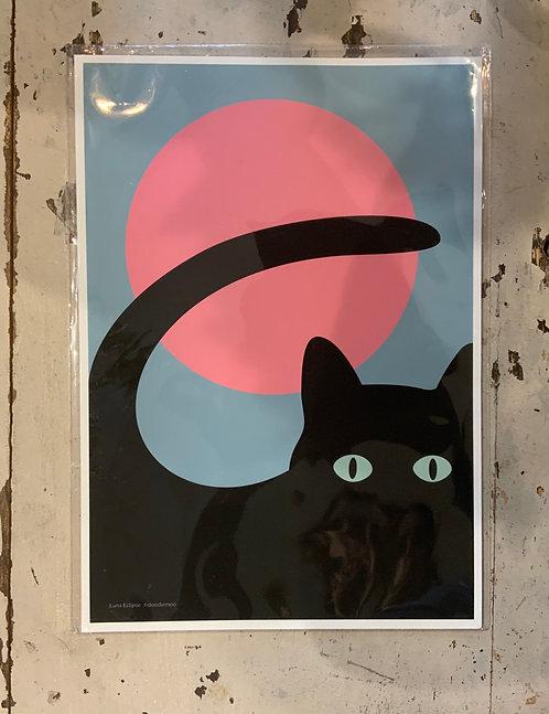 A4 Doodlemoo Cat Print