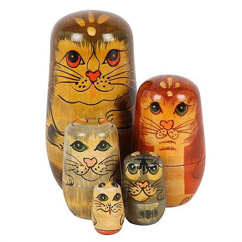 Cat Russian Doll Set