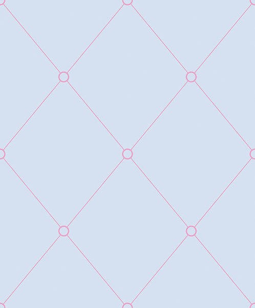 Light Blue & Pink Quilt Outline Wallpaper