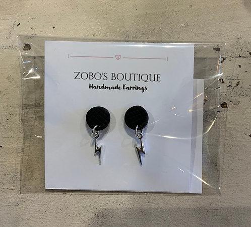 Lightning Earrings  - Silver