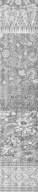 Arts & Crafts Patchwork Wallpaper Black & White