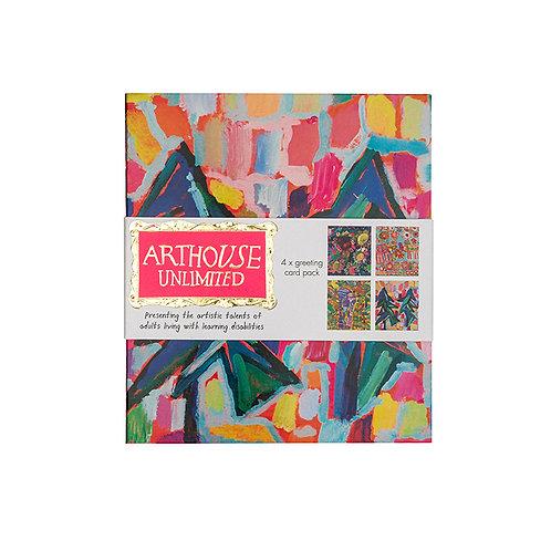Greetings Card Pack – 4 Unique Designs