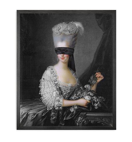 Blindfold -2 Framed Printed Canvas