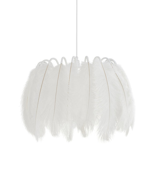Feather Pendant Lamp in White