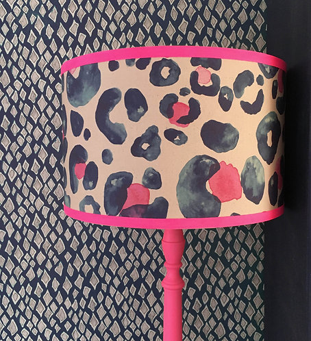Oversized Leopard - Navy and Pink