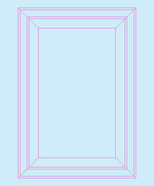 Light Blue & Pink Panel Outline Wallpaper