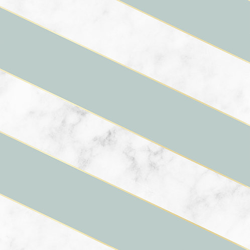 Diagonal Marble Wallpaper - Green
