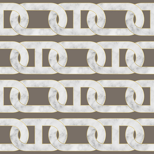 Chain Wallpaper - Grey