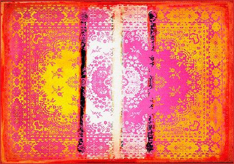 Kashan Remix Orange Pink Rug