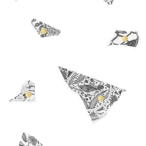White & Grey Plate fragment Wallpaper