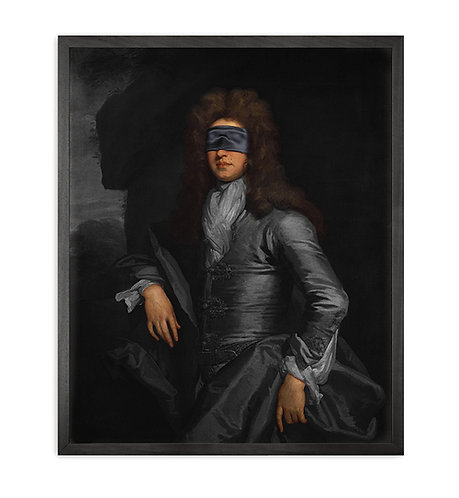 Blindfold -3 Framed Printed Canvas