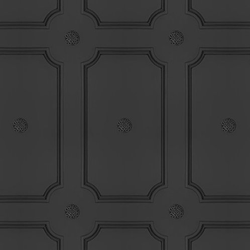 Charcoal Georgian Dot Panelling Wallpaper