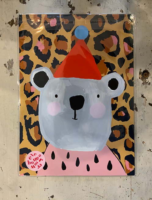 A4 Eleanor Bowmer Bear Print