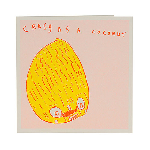 Crazy as a Coconut Card