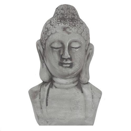 Grey Buddha Head Ornament