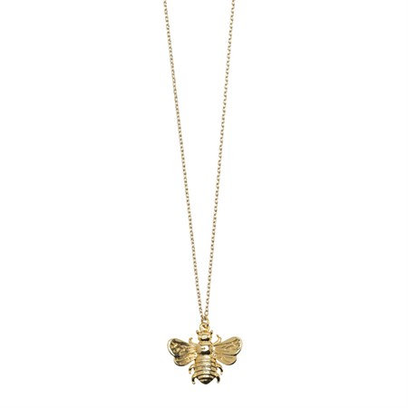 Necklace 3D Bee Long Gold