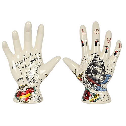 Palmistry Tattoo Hand Ornament (19cm)  HATE