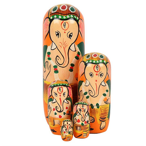 Ganesh Russian Doll Set