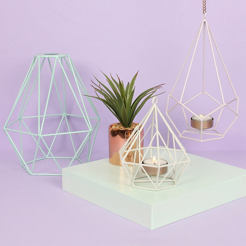 Geometric Lilac Tea Holder