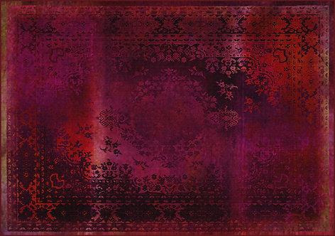 Kashan Remix Red Rug