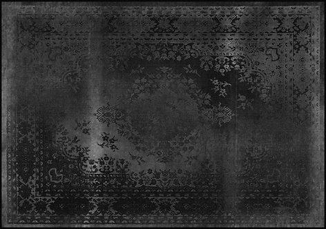 Kashan Remix Black Rug