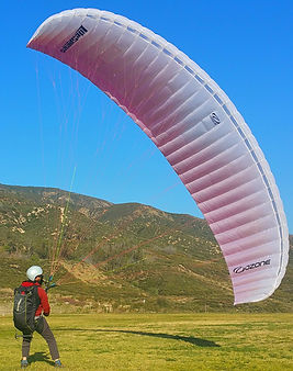 Kiting a Paraglider