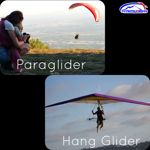 What is hang gliding versus paragliding?