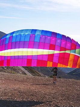 Tandem paragliding at Crestline, CA