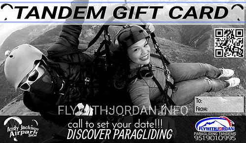 Tandem Paragliding Gift Card