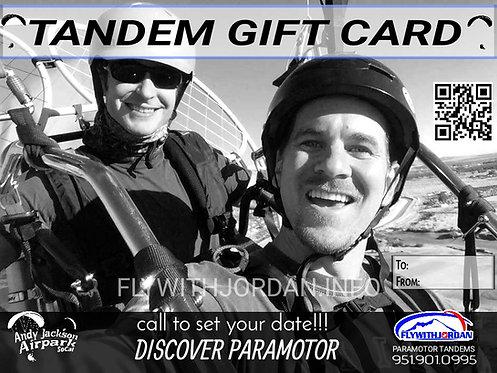 PARAMOTOR TANDEM GIFT CARD