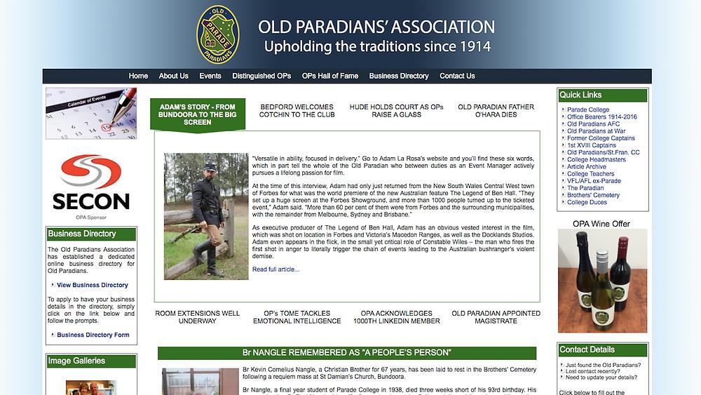 Adam La Rosa Old Paradians Parade College