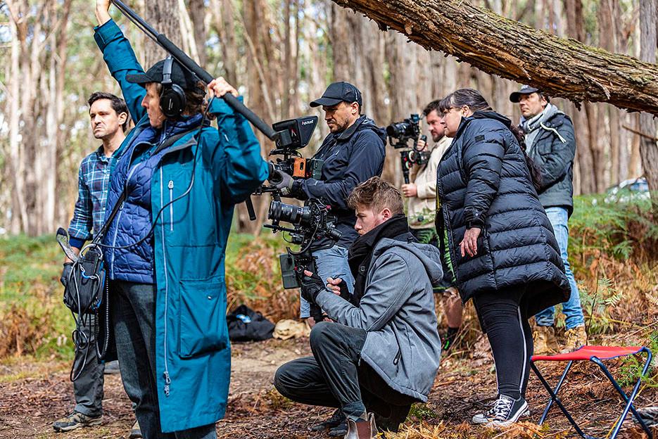 Matthew Holmes The Cost cast crew on location bush
