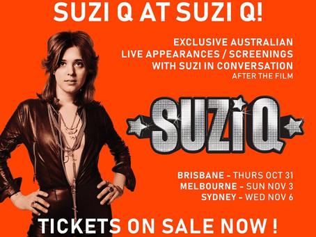 Meet SUZI Q At 3 Special Screenings In Australia!
