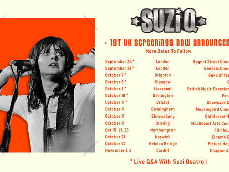 SUZI Q UK Cinema Screenings Announced!