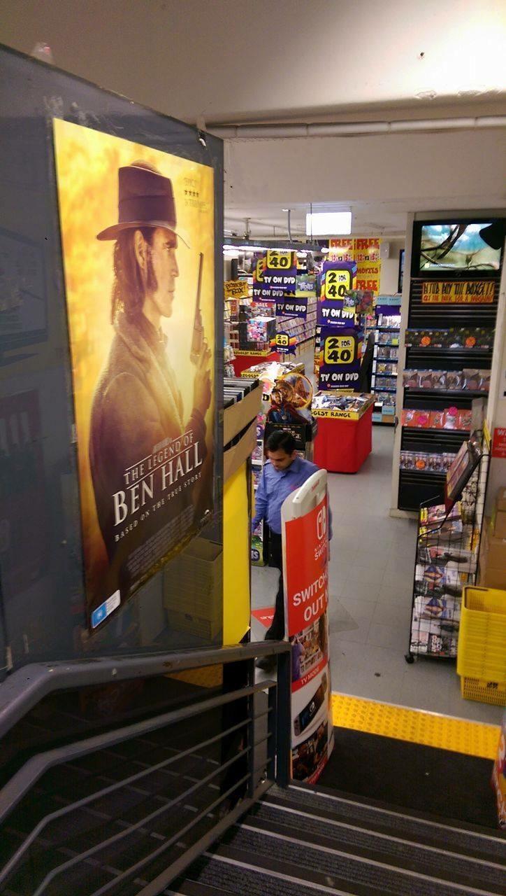 The Legend Of Ben Hall JB Hifi film poster Adam La Rosa
